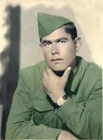 Düzeltilmiş Eski Renkli Renklendirilmiş Asker Askerlik Fotoğrafı