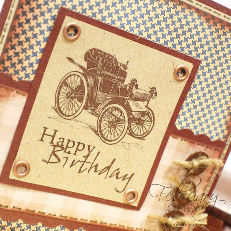 February Lane Handmade cards digital stamps digital paper and – Vintage Birthday Cards for Men