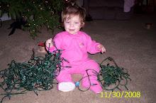 TAYLEE HELPING SET UP CHRISTMAS