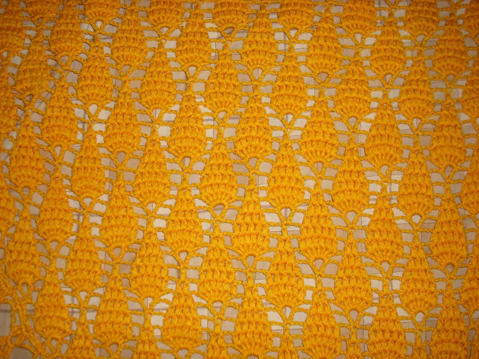 Arañito tejedor: Pap punto piña para chal en crochet