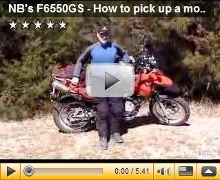 How to pick up a motorcycle