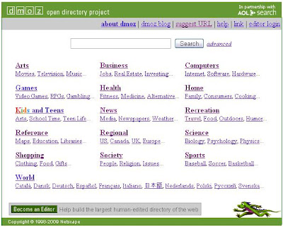Open Directory Project (DMOZ)