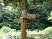 登山口前的指標