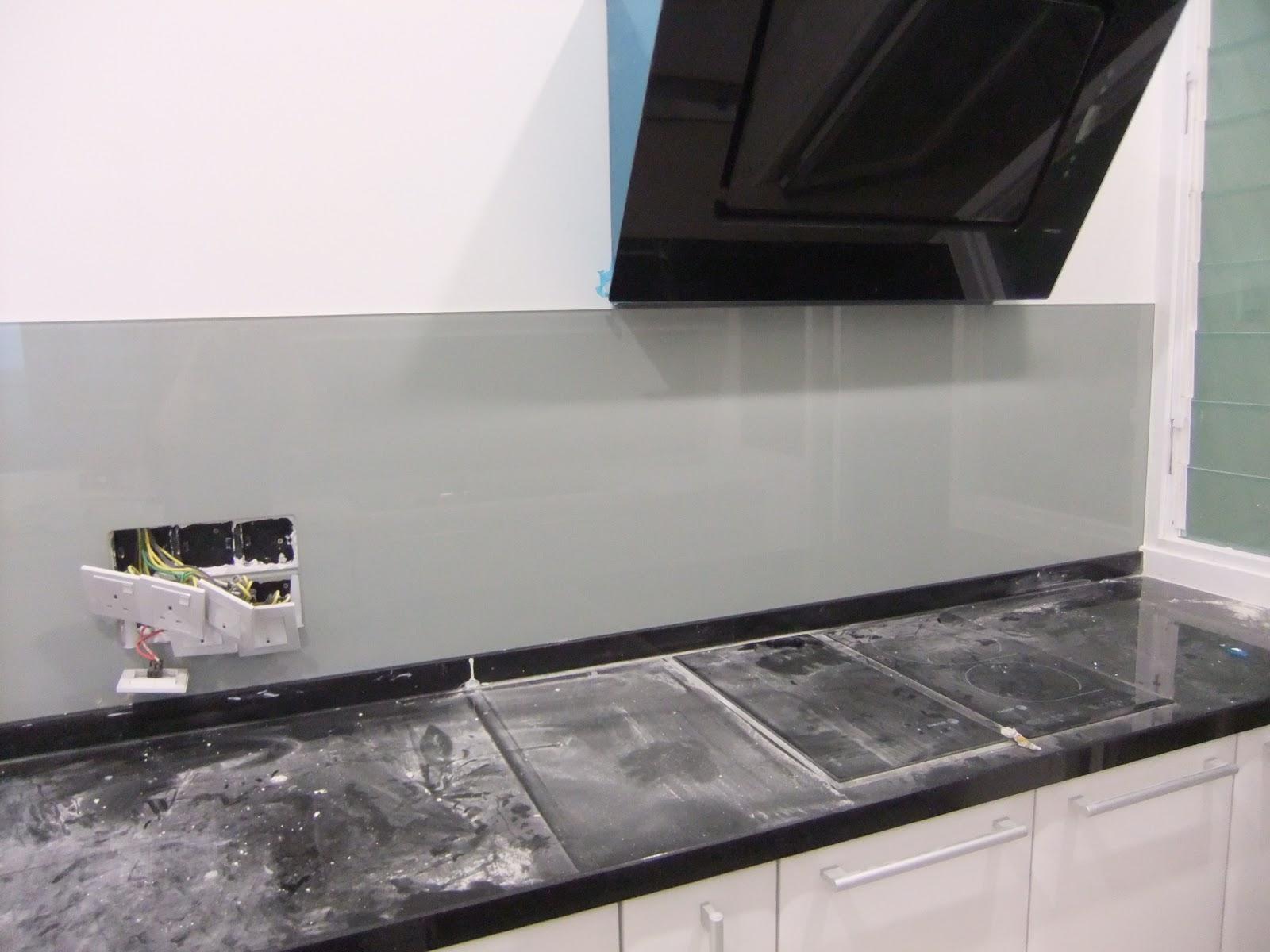 Tempered Glass Kitchen Backsplash