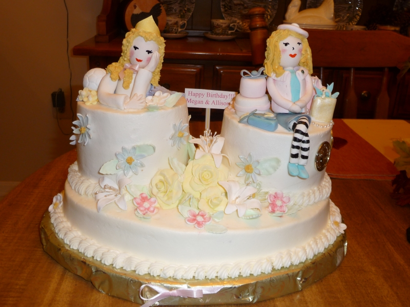 Cake Images For Twins : Icing On Top -- Cakes for Every Occasion: Twins Birthday Cake