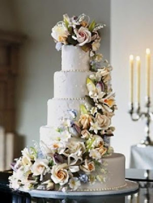 In the UK a traditional wedding cake is a fruitcake covered with white icing