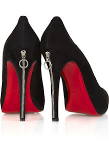 renewable work: christian louboutin red soled shoes