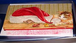 Caixa natalina aveludada por dentro 25X20