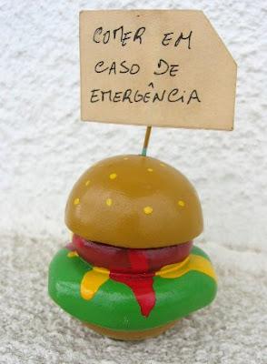 Artesanato: Hambúrguer de barro