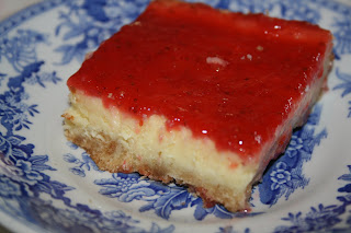 Strawberry White Chocolate Cheesecake Bars
