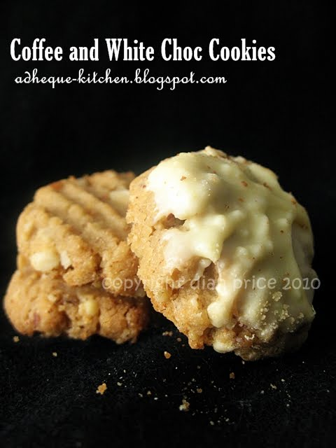 When Love and Food Collide: Coffee and White Chocolate Cookies