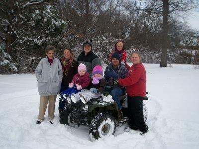 My mom, son & family and niece & nephew