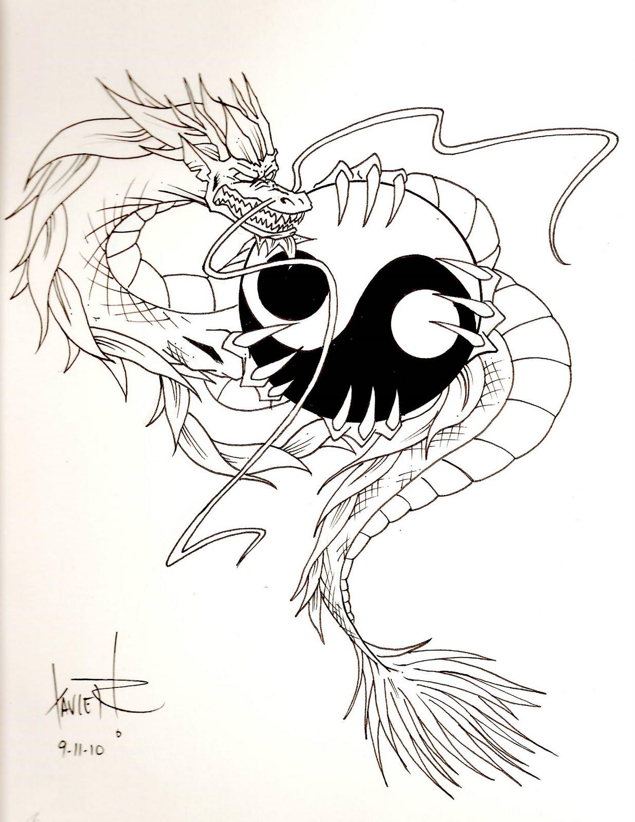 Yin Yang Dragon Tattoos