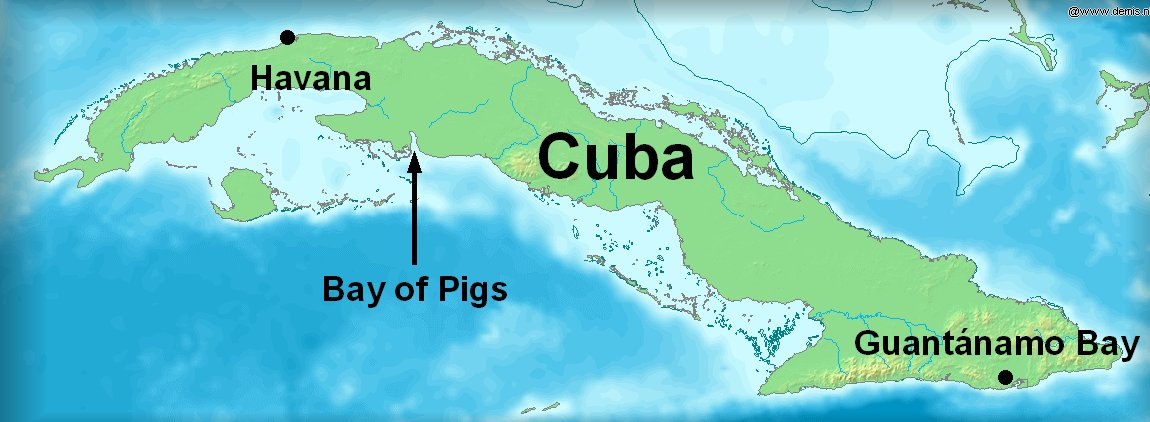 a description of the story of the failed invasion of cuba at the bay of pigs The plan was to send a 1,400 man invasion at the bay of pigs in cuba see it as a failed attempt to overthrow the full story of the bay of pigs invasion.