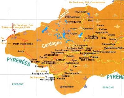 Les Pyrénées Orientales (66) Carte-cerdagne-capcir