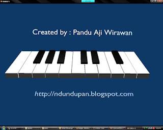 Aplikasi piano pertama saya, 2009