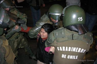 Represion en Santiago