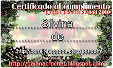 """Certificado de Inter navideño de """"El crochet de Daiana"""""""