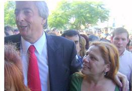 Mirta Praino Junto a Nestor Kirchner