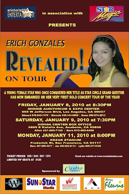 Erich Gonzales concert poster... just for fun lol