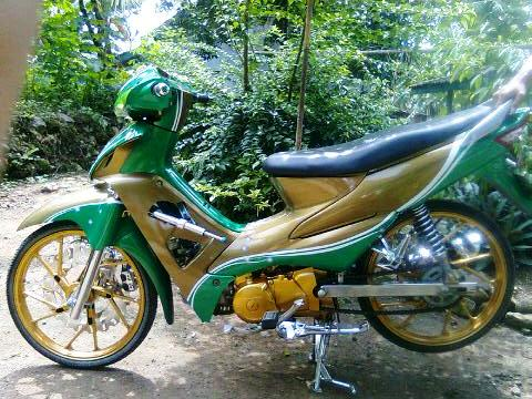 Modifikasi motor custom cat, modif warna cat modifikasi motor supra