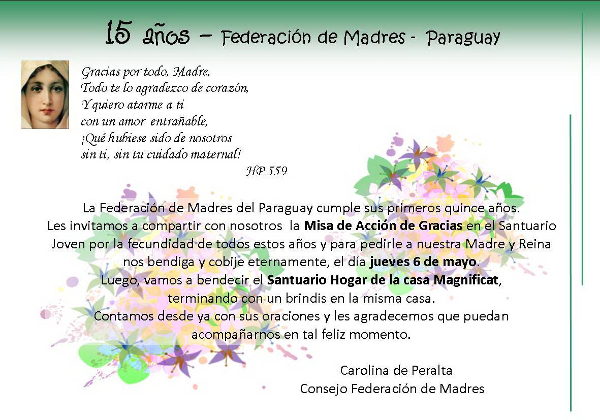 ... de madres de paraguay cumple 15 anos es un momento de mucha alegria y