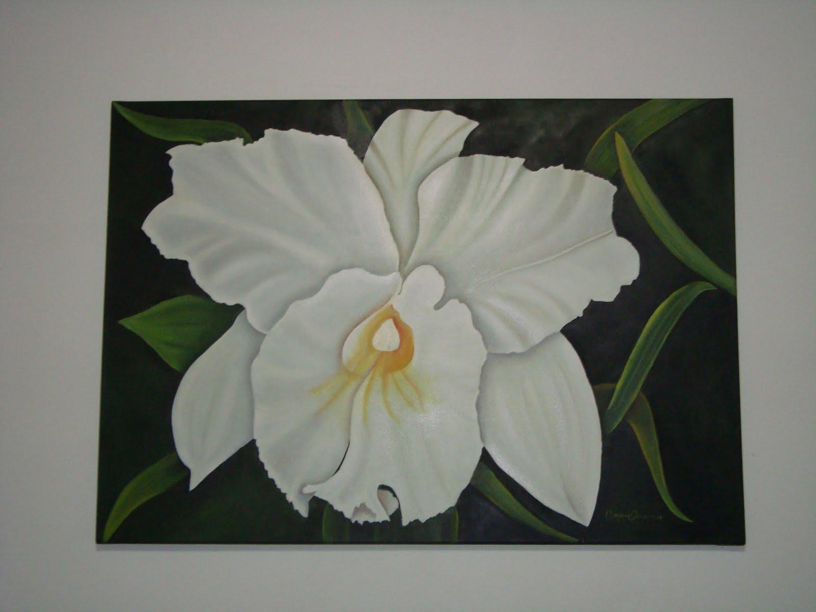 ... . Arte Decorativo: Orquídea en óelo