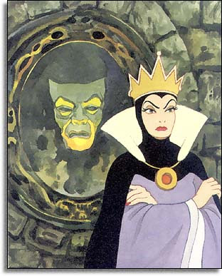 The Queen/Witch - The Queen is the stepmother of Snow White.