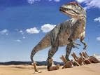 El tyrannosaurus rex medía 14 m (46 pies) de largo, casi 6 m (18 pies) de alto ...