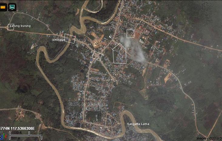 1 kota sangatta dari gang masjid rudina arah ke utara