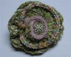 Crocheted flower pin