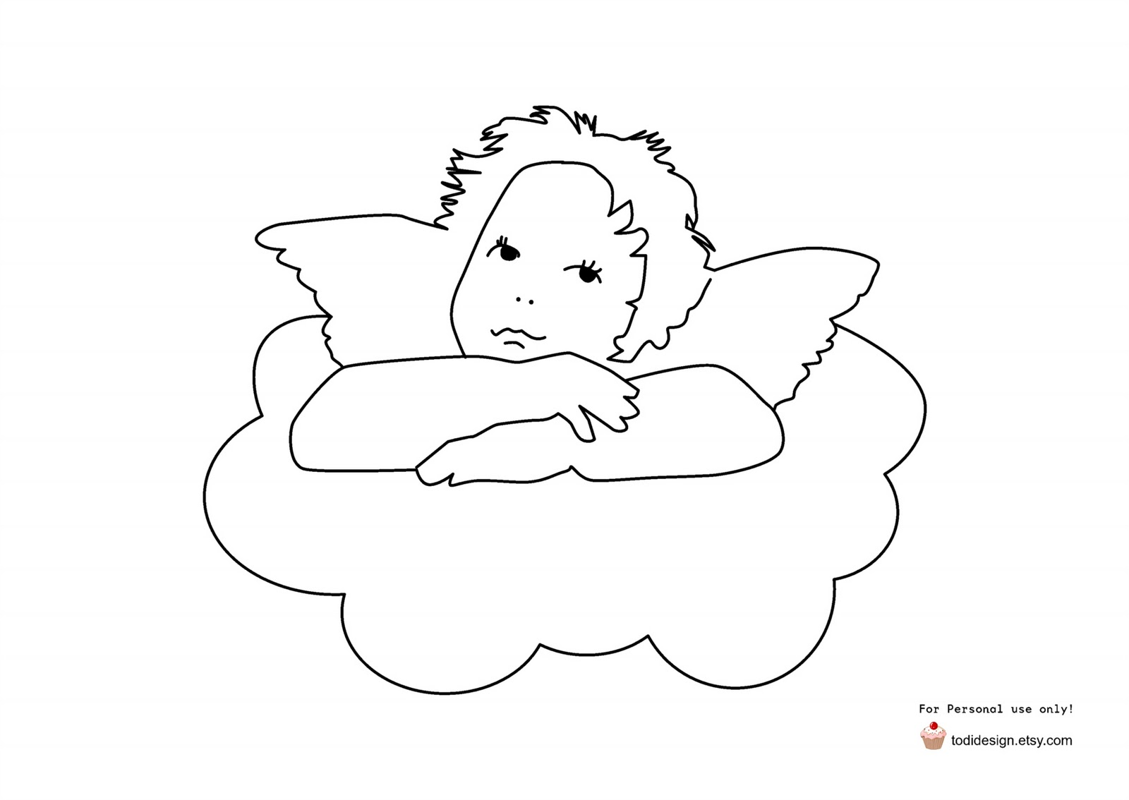 Zany image pertaining to printable angels