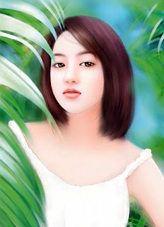 khmer beautiful girl painting