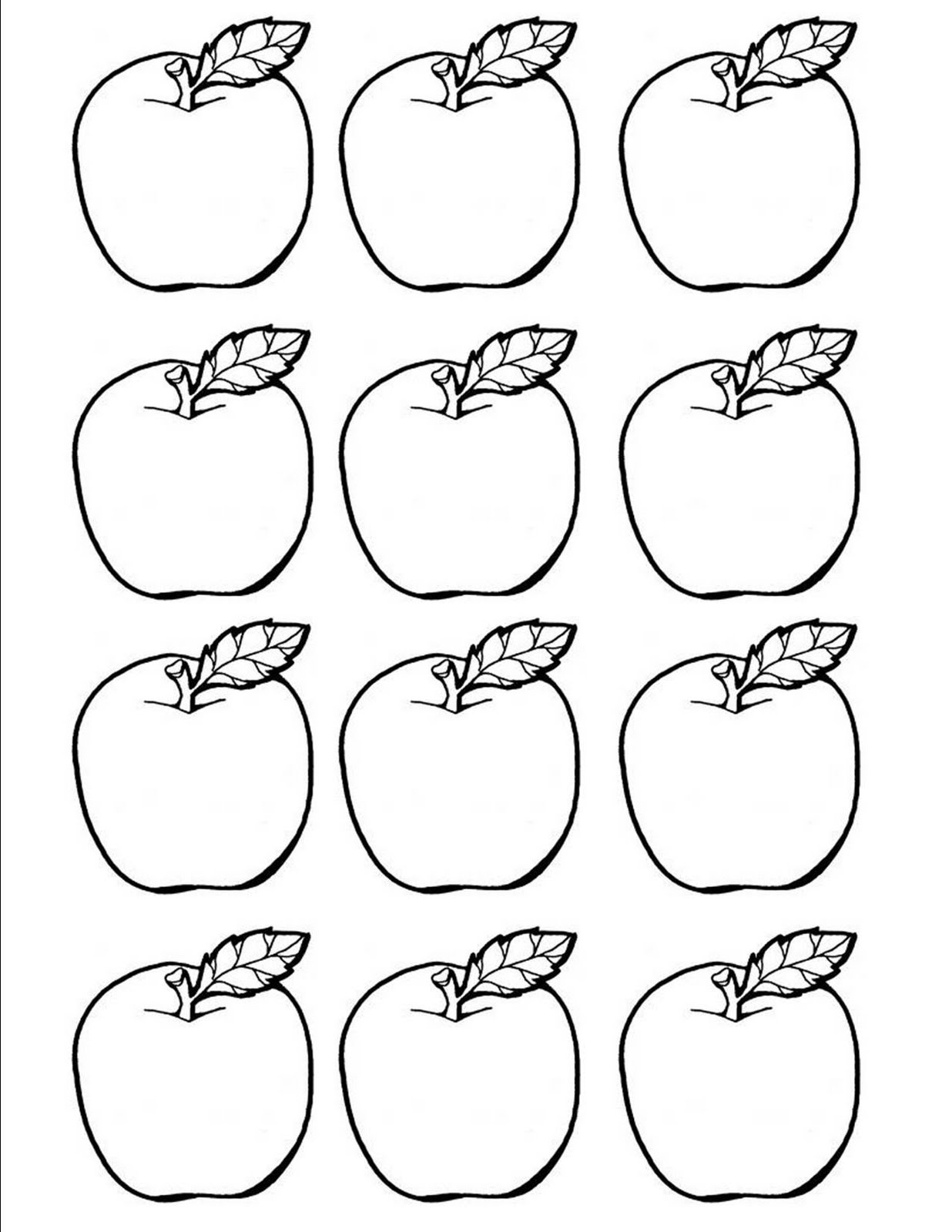 Crafty image pertaining to printable apple template