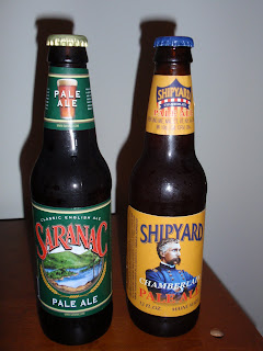 Saranac Pale Ale vs Shipyard Chamberlain Pale Ale