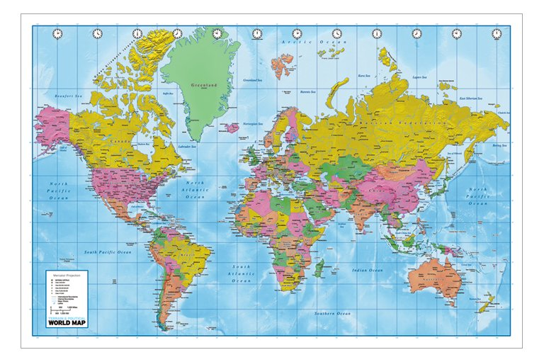 Blacesprodor world map wallpaper mural world map wallpaper world map gumiabroncs Images