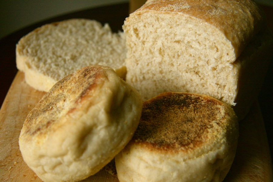 Corner Loaf: Honey Oat English Muffins and English Muffin Bread