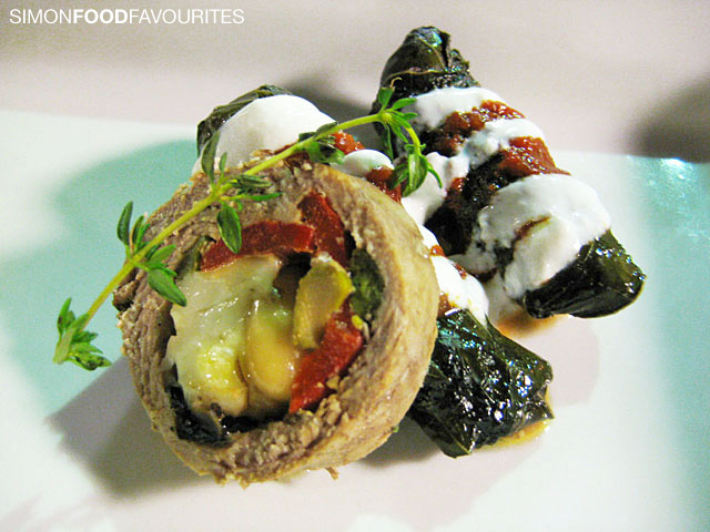 Dana Sarma: Rock Valley veal filled with haloumi and asparagus, Dolma ...