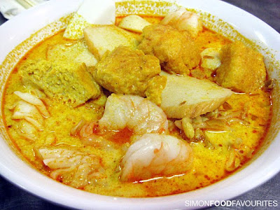 chicken laksa soup. Assam Laksa, Chicken Laksa