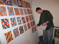 Kyle's Latest Quilt Project is patterned after the railing on our deck