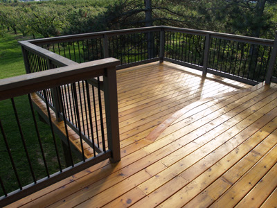 The business of building decks and fences one of our best for Best place for decking