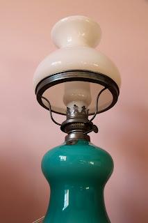 el merkadillo-Lámpara-Quinqué Vintage de Opalina