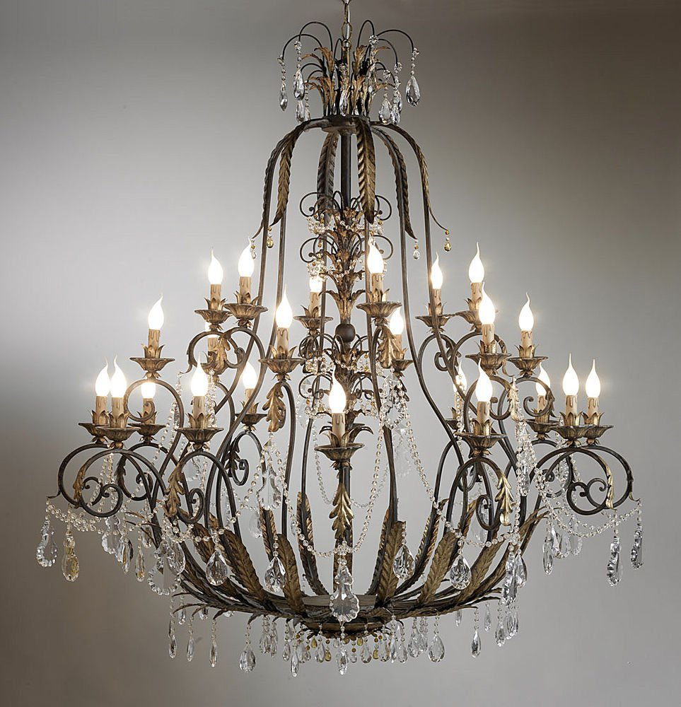 Chandelier metal vintage - Classic wrought iron chandeliers adding more elegance in the room ...