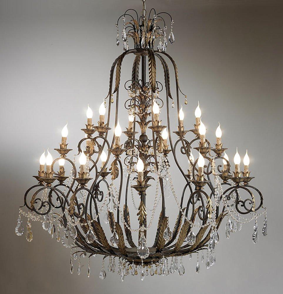 chandelier metal vintage