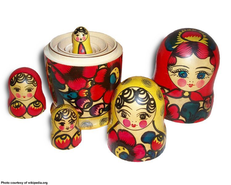 matryoshka conjunto de 7 muñecas de la jerarquización