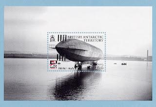 British Antarctic Territory 2009 - 100 Year of Naval Aviation souvenir sheet
