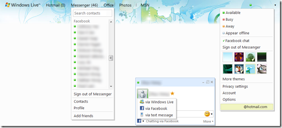 Facebook Chat Coming to Windows Live Web Messenger