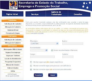 Site SiNE Curitiba