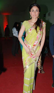Sexy Kareena Kapoor in Green Saree
