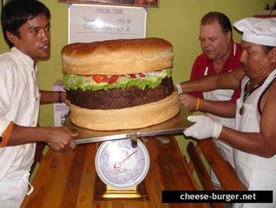 World's Biggest Cheeseburger